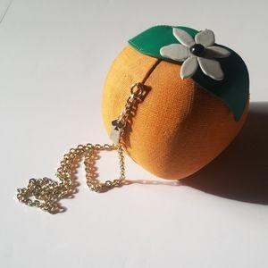 EUC! Kate Spade Orange Fruit Purse